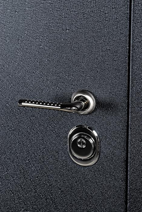 металлические двери с порошковым напылением черный шелк