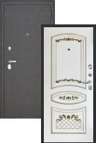 Стальная дверь Regidoors Колизей Эмаль Алина (Белая эмаль + патина золото)