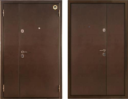 входные двери (стальные двери, металлические двери) DOORS007: дверь Бульдорс MEGA (Steel 13Д Двустворчатая)