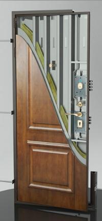 входные двери (стальные двери, металлические двери) DOORS007: дверь Гардиан ДС 7 с внутренним открыванием