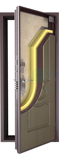 входные двери (стальные двери, металлические двери) DOORS007: дверь Гардиан ДС6 (Уличная, 3 Контура)