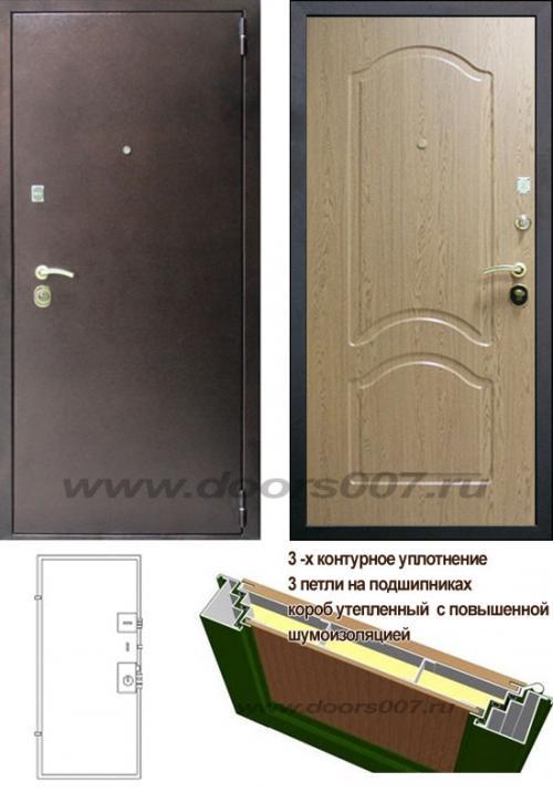входные двери (стальные двери, металлические двери) DOORS007: дверь Сенатор Оптима 3К Дуб