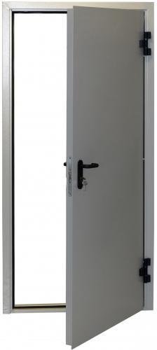 входные двери (стальные двери, металлические двери) DOORS007: дверь Противопожарные Промет EI 60 Одностворчатая  с доводчиком RAL 7038
