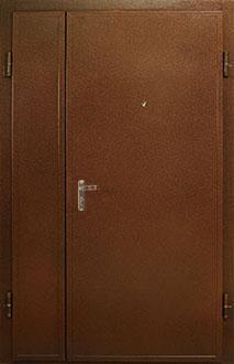 дверь двухстворчатая 1300х2100 металлическая