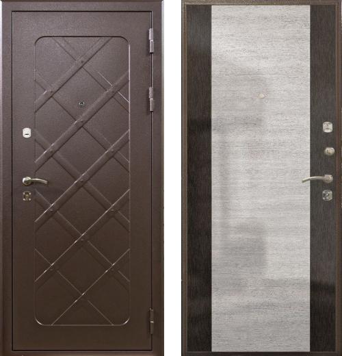 входные двери (стальные двери, металлические двери) DOORS007: дверь Airon Кармен (панель 002, 2 замка)