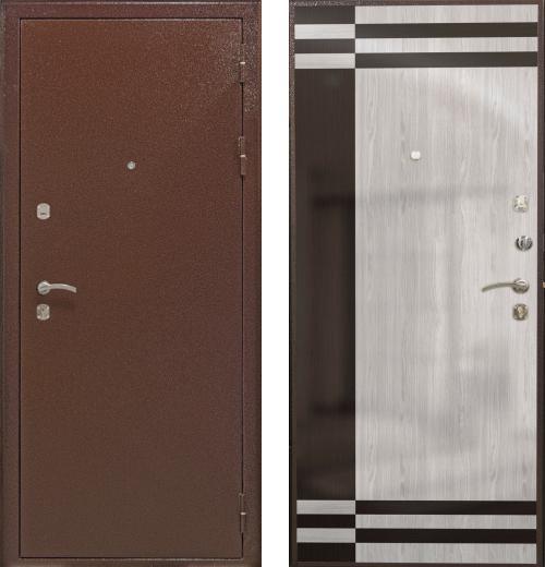 входные двери (стальные двери, металлические двери) DOORS007: дверь Airon Мария (панель 001, 2 замка)