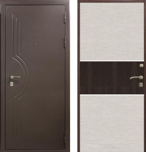 входные двери (стальные двери, металлические двери) DOORS007: дверь Airon Стелла (Панель 003, 2 замка)