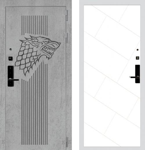 входные двери (стальные двери, металлические двери) DOORS007: дверь Баяр 1 Дизайн 02