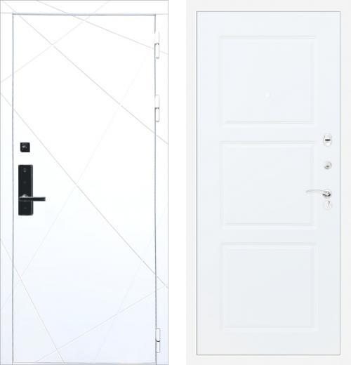 входные двери (стальные двери, металлические двери) DOORS007: дверь Баяр 1 ФЛ-291 Белый ФЛ-3