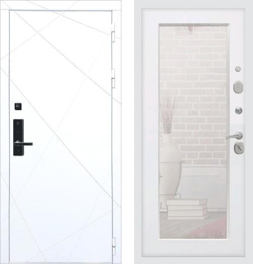 входные двери (стальные двери, металлические двери) DOORS007: дверь Баяр 1 ФЛ-291 Белый Пастораль