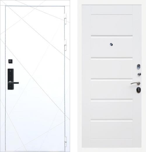 входные двери (стальные двери, металлические двери) DOORS007: дверь Баяр 1 ФЛ-291 Белый Сити