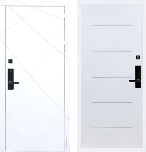 входные двери (стальные двери, металлические двери) DOORS007: дверь Баяр 1 ФЛ-291 Белый B-03 Молдинг
