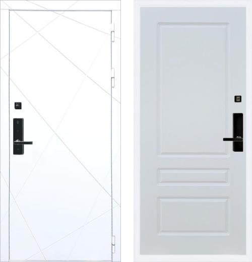 входные двери (стальные двери, металлические двери) DOORS007: дверь Баяр 1 ФЛ-291 Белый ФЛ-116, Цвет