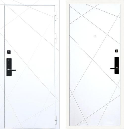 входные двери (стальные двери, металлические двери) DOORS007: дверь Баяр 1 ФЛ-291 Белый
