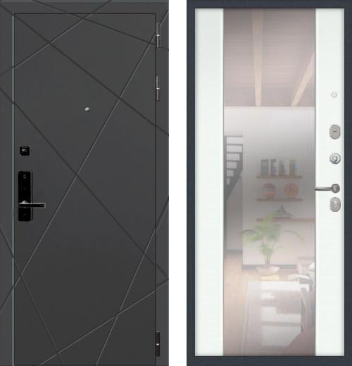 входные двери (стальные двери, металлические двери) DOORS007: дверь Баяр 1 СБ-16 с зеркалом, Цвет