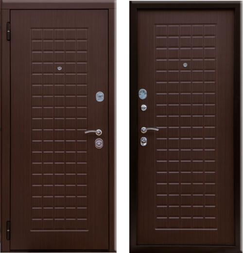 входные двери (стальные двери, металлические двери) DOORS007: дверь Белдорс Шоколадка