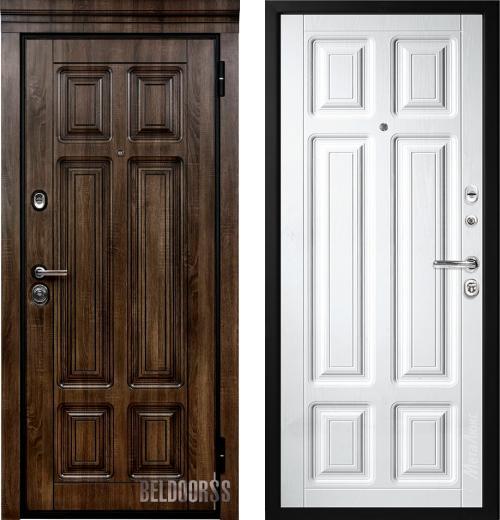 входные двери (стальные двери, металлические двери) DOORS007: дверь Белдорс Статус М706/3