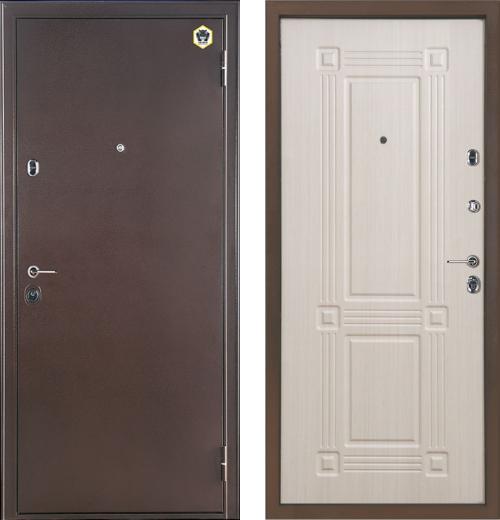 входные двери (стальные двери, металлические двери) DOORS007: дверь Бульдорс 14 (рисунок B5, Шамбори светлый)