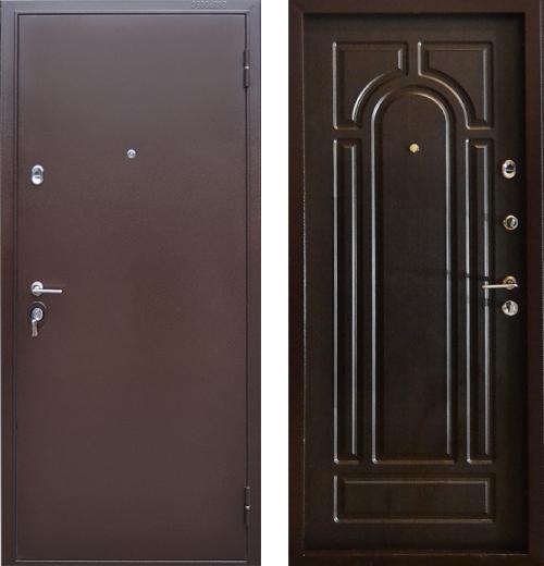 входные двери (стальные двери, металлические двери) DOORS007: дверь Бульдорс 14 (рисунок Б2, Венге)