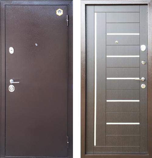 входные двери (стальные двери, металлические двери) DOORS007: дверь Бульдорс 14М
