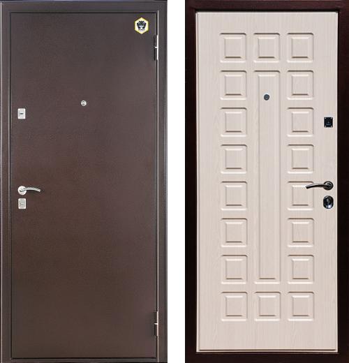 входные двери (стальные двери, металлические двери) DOORS007: дверь Бульдорс 13 А-3, Цвет