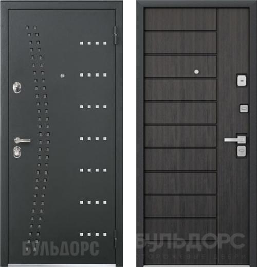 входные двери (стальные двери, металлические двери) DOORS007: дверь Бульдорс 44 R15 / N-9 Ларче темный