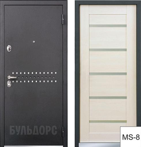 входные двери (стальные двери, металлические двери) DOORS007: дверь Бульдорс 44 RP R-10, MS-8
