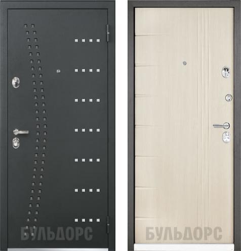входные двери (стальные двери, металлические двери) DOORS007: дверь Бульдорс 44 R15 / N-11 Дуб перламутр