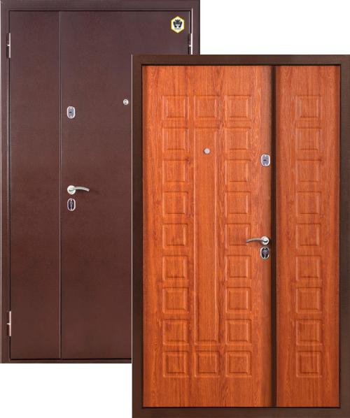 входные двери (стальные двери, металлические двери) DOORS007: дверь Бульдорс MEGA (13Д Двустворчатая)