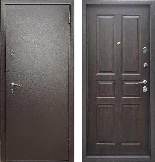 входные двери (стальные двери, металлические двери) DOORS007: дверь Бульдорс ECONOM  Е-146 Ларче шоколад
