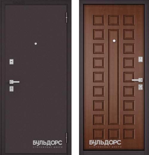 входные двери (стальные двери, металлические двери) DOORS007: дверь Бульдорс MASS 70  Букле шоколад / М-110, Цвет