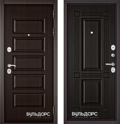 входные двери (стальные двери, металлические двери) DOORS007: дверь Бульдорс MASS 90 Ларче шоколад 9S-108, Цвет