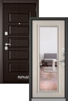 Входная дверь Бульдорс MASS 90 Ларче шоколад 9S-108 c зеркалом
