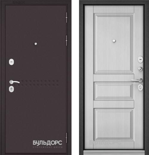 входные двери (стальные двери, металлические двери) DOORS007: дверь Бульдорс MASS 90 Букле шоколад R-4, Цвет