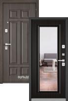 Стальная дверь Бульдорс PREMIUM 90 Дуб шале серебро 9Р-115 с зеркалом
