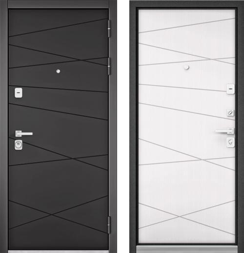 входные двери (стальные двери, металлические двери) DOORS007: дверь Бульдорс PREMIUM 90 Графит софт 9Р-130, Цвет