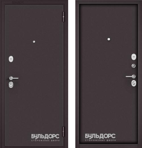 входные двери (стальные двери, металлические двери) DOORS007: дверь Бульдорс STANDART 70 STEEL Букле шоколад
