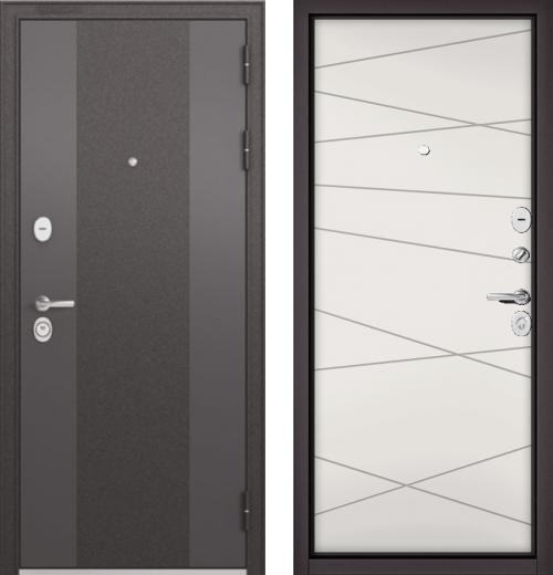 входные двери (стальные двери, металлические двери) DOORS007: дверь Бульдорс STANDART 90 Чёрный шелк 9К-4, Цвет