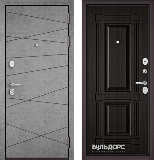 входные двери (стальные двери, металлические двери) DOORS007: дверь Бульдорс STANDART 90 Штукатурка серая 9S-130, Цвет