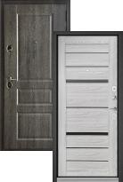 Входная дверь Бульдорс STANDART 90 Дуб графит 9SD-2 / Ясень ривьера Айс CR-1 (стальная дверь, металлическая дверь)