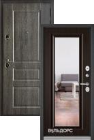 Стальная дверь Бульдорс STANDART 90 Дуб графит 9SD-2 с зеркалом
