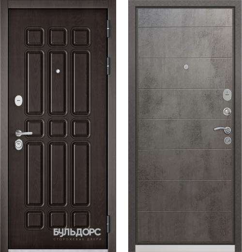 входные двери (стальные двери, металлические двери) DOORS007: дверь Бульдорс STANDART 90 Дуб шоколад 9S-111, Цвет
