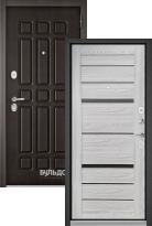 Стальная дверь Бульдорс STANDART 90 Дуб шоколад 9S-111 / Ясень ривьера Айс CR-1 (входная металлическая дверь)
