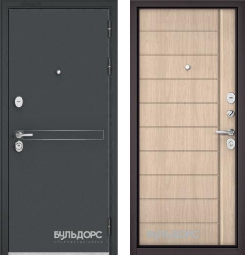 входные двери (стальные двери, металлические двери) DOORS007: дверь Бульдорс STANDART 90 Чёрный шелк D-4, Цвет