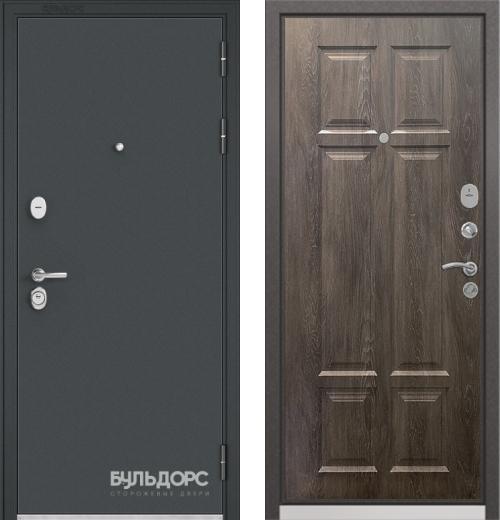 входные двери (стальные двери, металлические двери) DOORS007: дверь Бульдорс STANDART 90 Чёрный шелк, Цвет