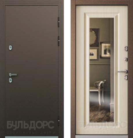 входные двери (стальные двери, металлические двери) DOORS007: дверь Бульдорс Термо 2 с зеркалом