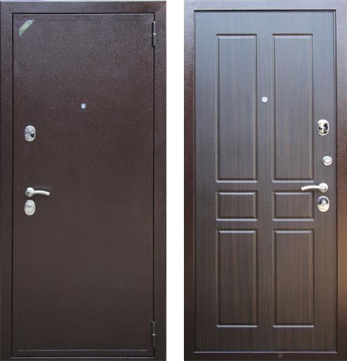 входные двери (стальные двери, металлические двери) DOORS007: дверь Zetta Евро 2 Б2 ПАРАЛЛЕЛЬ Венге