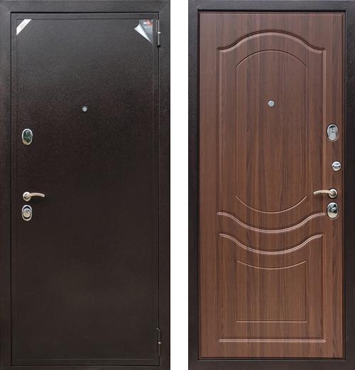 входные двери (стальные двери, металлические двери) DOORS007: дверь Zetta Евро 2 Б2 ВЕНЕЦИЯ Орех тисненый
