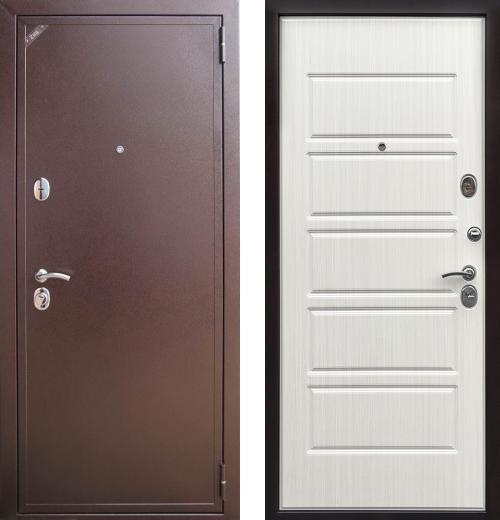 входные двери (стальные двери, металлические двери) DOORS007: дверь Zetta Евро 2 Б2 ДОМИНО (рис. F041 / Венге белый)