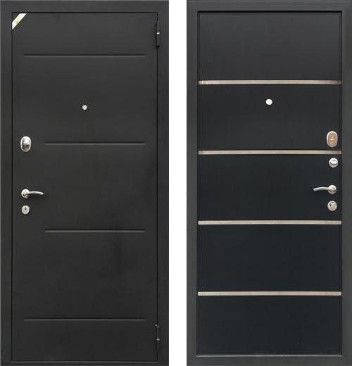входные двери (стальные двери, металлические двери) DOORS007: дверь Zetta Комфорт 2 Д1, Платан Черный